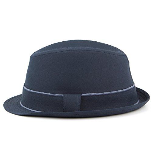Hawkins - Chapeau fedora - Uni - Homme Bleu Marine