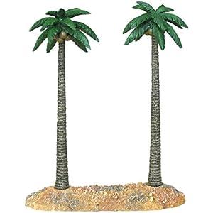 Haquoss Palm Double L Dekoration Kunstharz, 31x 12x 30h cm