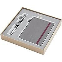 PARKER Urban estuche con bolígrafo y libreta de la colección British, color ébano metalizado Premium con adornos cromados (2010768)