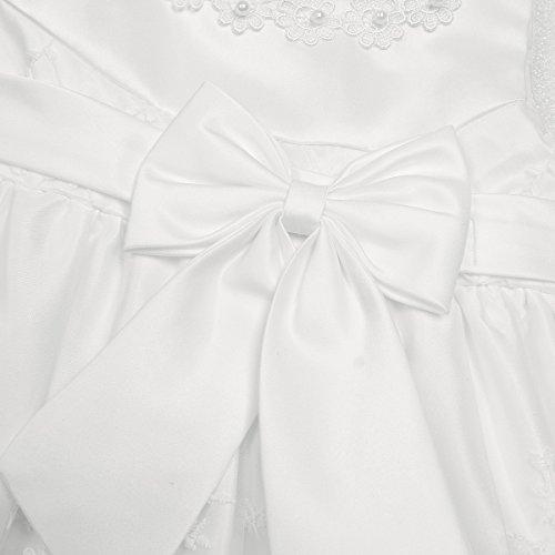 iiniim Baby Mädchen Prinzessin Kleid Blumenmädchenkleid Taufkleid Festlich Kleid Hochzeit Partykleid Festzug Babybekleidung Gr. 68-92 Ivory 68-74 / 6-9 Monate - 5