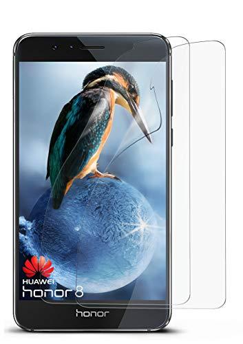 2X Huawei Honor 8 | Schutzfolie Matt Bildschirm Schutz [Anti-Reflex] Screen Protector Fingerprint Handy-Folie Matte Bildschirmschutz-Folie für Honor 8 Bildschirmfolie
