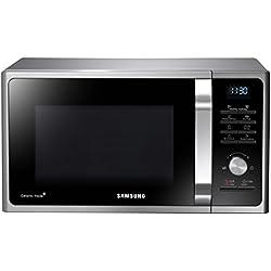 Samsung mg28F303tcs/CE micro-ondes/900W/28L/20Vital Programmes/Céramique-intérieur/Eco Mode émail/Argent