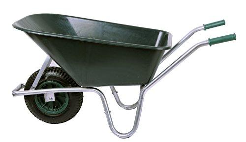 floristikvergleich.de Schubkarre 100 ltr. 250kg, PVC, grün (Gartenkarre Bauschubkarre Baukarre)