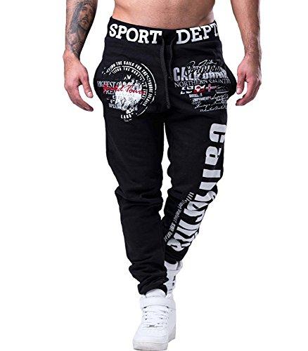 MonsieurMode -  Pantaloni sportivi  - Uomo Nero