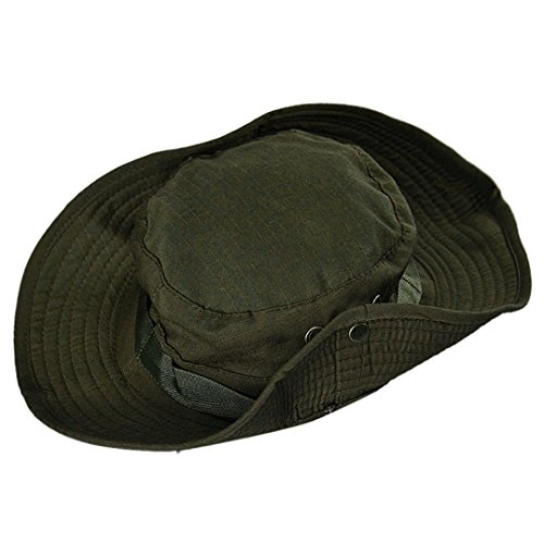 Covermason Bucket Hat Boonie Chasse Pêche Outdoor Large Cap Brim militaire Army Green