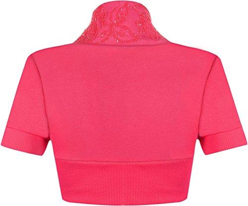 Momo Fashions Damen-Bolero kurzärmlig, Größen 34-40 Kirsche