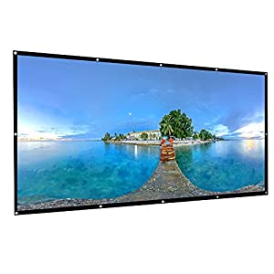 OMZER 120 Inch Portable Projector Screen 16:9 HD Foldable Anti-Wrinkles Projector Movie Screen Support Front & Rear Projection Easy To Install For Indoor Outdoor Home Theatre Cinema Movie Games Party