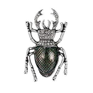 Fablcrew Hellgrün Vintage Käfer Brosche Insekten-Brosche Mode Persönlichkeit Seidenschal Bekleidungszubehör