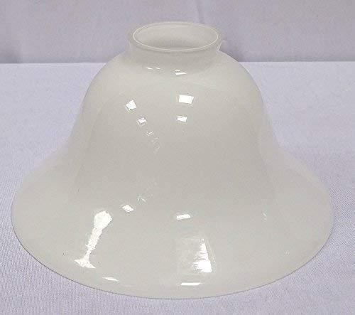 Konisch geschweifter Lampenschirm, Antiker Glasschirm, milchig Weiß 20 cm