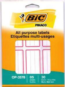 Preisvergleich Produktbild Bic Universal Etiketten, 30 Stück