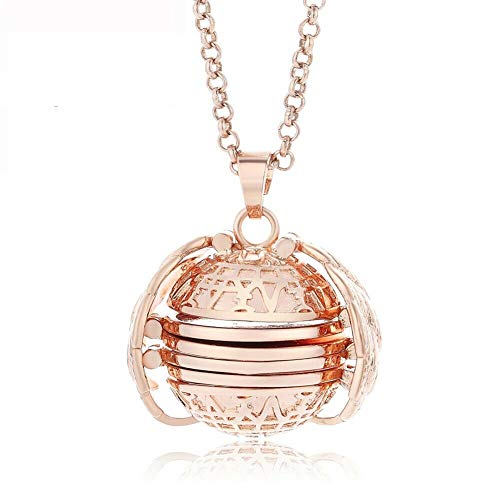 ac62cfe17ddf Ferrell Expanding Photo Locket Necklace Pendant Gift Jewelry Decoration for  Women Lady