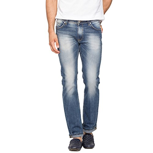 Spykar Mens Light Blue Slim Fit Low Rise Jeans (Rico) (38)  available at amazon for Rs.919