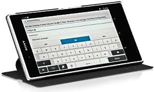 StilGut UltraSlim Case mit Standfunktion für Sony Xperia Z Ultra XL39h in Schwarz