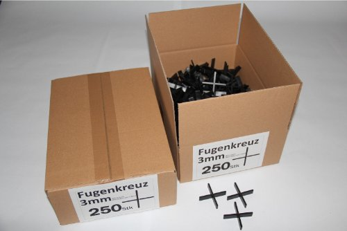 Fugenkreuze 3mm, Bauhöhe 10mm, 250 Stück im Karton