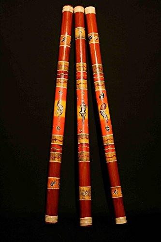 Bambus Didgeridoo - Länge ca. 120cm - handbemalt - Ideal für Anfänger, da sehr leicht zu spielen