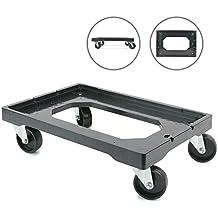 Cablematic - Plataforma con ruedas para transporte de cajas eurobox 60 x 40 cm