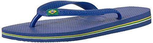 Havaianas Unisex-Kinder Brasil Logo Zehentrenner, Blau (Brasil Logo Marine Blue), 29/30 EU (27/28 Brazilian)