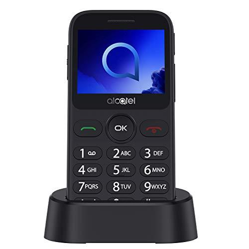 """Oferta de Alcatel 2019G Metallic gris Pantalla 2.4"""" Teléfono Móvil Fácil Uso Teclas Grandes Camara 2mpx,Bluetooth bluetooth 2.1,FM Radio,Linterna, Boton SOS,Grabador, Gris [Versión ES/PT]"""