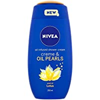 NIVEA Shower Cream Gel, Creme and Oil Pearls Lotus,...