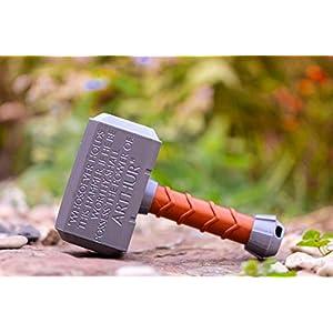 """Babyrassel """"Thor"""" – Geschenk Spielzeug – individualisierbar mit Namen / Geschenk / Taufgeschenk"""