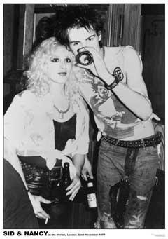 "I-Skin ""The Sex Pistols-Nancy Sid Vicious And Punk Rock Poster misure 83,82 x 55,88 (33"") x 22 cm, 58 x 85 cm circa"