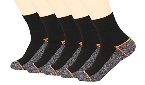 Kupfer Antibakterielle Athletische Socken für Männer und Frauen-Feuchtigkeits-Docht, rutschfeste Kissen Knöchelsocken