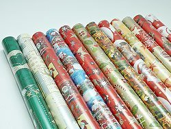 Weihnachtspapier 2m x 0,70m Lieferumfang 10 Rollen Weihnachts Geschenkpapier verschiedene Motive