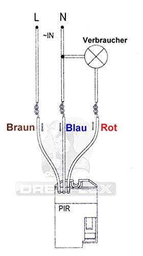 Drehflex® Mini PIR-Bewegungsmelder zum Einbauen 240Volt LED geeignet - 4