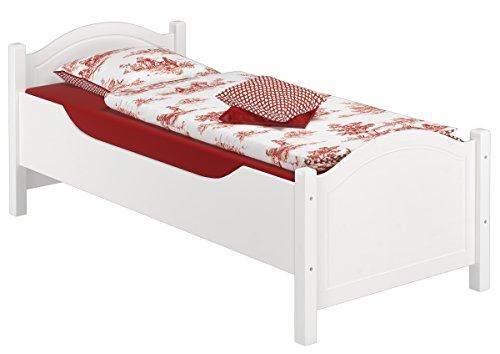 Erst-Holz® Massivholzbett extra hoch Rollrost 90×200 Senioren-Holzbett Einzelbett Gästebett 60.40-09 W