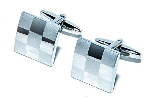 GRAND ARGENT BANDEAU DE VOITURE AUTOCOLLANTS DE MARIAGE MARIAGE BOUTONS DE MANCHETTE CUFFLINKS, avec sac cadeau