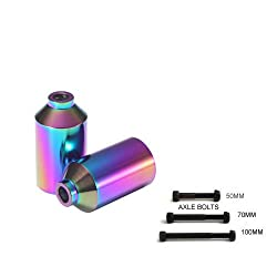 Pair Of Motion Pro Scooter Smooth Neo Chrome Stunt Pegs