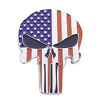 LuLezon American Flag Punisher Skull Hard Enamel pin Badge Brooch
