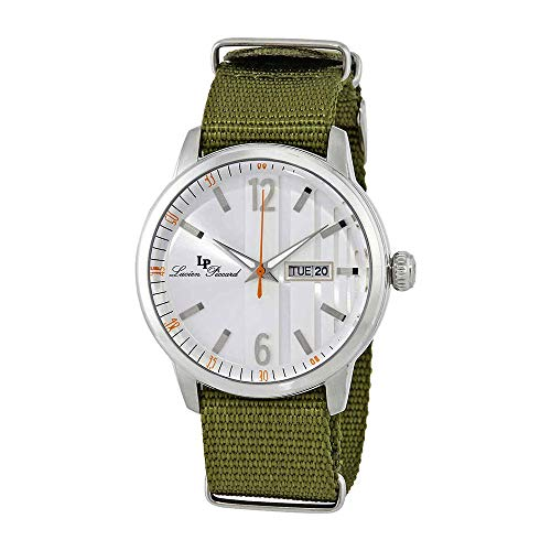 Lucien Piccard Milanese Green Textile Mens Watch 40027-02S-GRNS