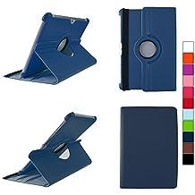 COOVY® SMART FUNDA 360º GRADOS ROTACIÓN PARA SAMSUNG GALAXY TAB 10.1 N GT-P7500 GT-P7501 GT-P7510 GT-P7511, TAB 2 10.1 GT-P5100 GT-P5110 COVER CASE PROTECTORA SOPORTE color azul oscuro