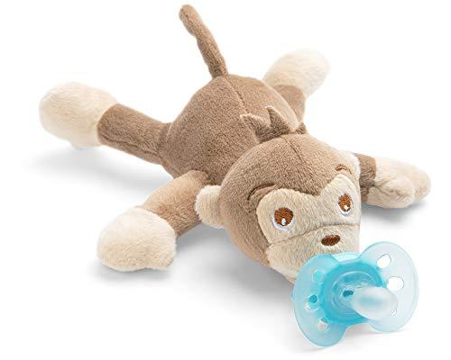 Philips Avent Snuggle Affe SCF348/12, Kuscheltier mit Schnuller ultra soft, perfektes Geschenk für Neugeborene und Babys, Schnullertier (Baby-schnuller Plüschtier Mit)