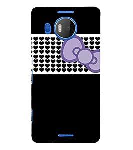 Beautiful Bow Design 3D Hard Polycarbonate Designer Back Case Cover for Nokia Lumia 950 XL :: Microsoft Lumia 950 XL