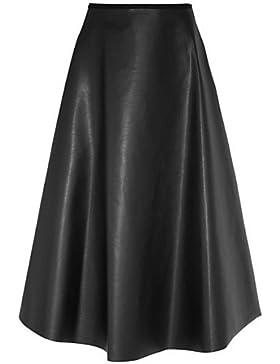 Falda Mujer - PU Cinturón No Incluido , l