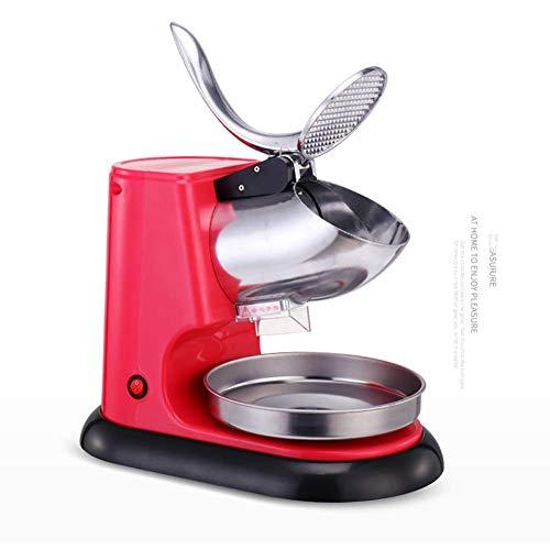 DGYAXIN Smoothies Eiscrusher, 300w Ice Crusher Maschine Schnee Shaver, Eiszerkleinerer Edelstahl, für Heimgewerbe,rot