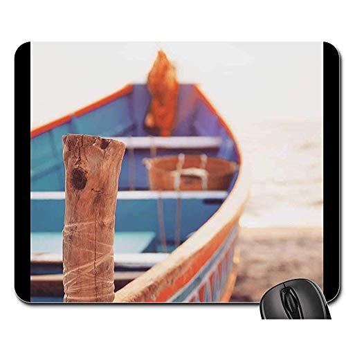 Geeignet Für Office Mouse Mat - Mausunterlage - Allepey Strand-Boot, Das Sand Indiens Kerala Glättet