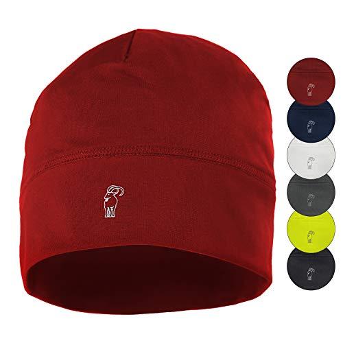 Alpidex berretto corsa calcio sportivo bici cappello running donna uomo skull cap, colore:red