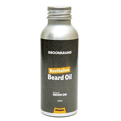 Groomarang beleben Bart Öl - Feuchtigkeitscreme & Conditioner für weiche bärtigen Haar - 100 % natürliche, organische & Vegan 100ml