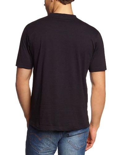 CASAMODA Herren T-Shirt 2 er Pack Comfort Fit 092183/80 Schwarz (80 schwarz)