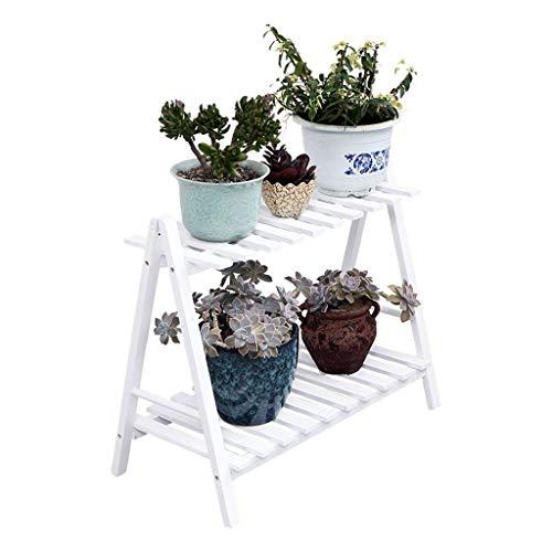 HZTWS Blumenregal mehrschichtigen massivholz Innenraum Wohnzimmer Balkon kleine blumentopf Rack Pflanze Rahmen Dekoration (weiß, geeignet für mehr Fleisch) (Size : S) -