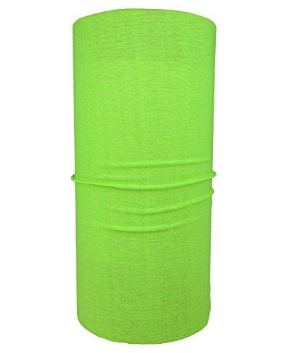 Hilltop Multifunktionstuch/Halstuch/Schlauchtuch/Bandana/unifarben, Farbe uni:neon gelb - grün -