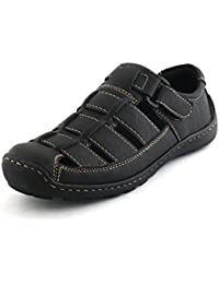 Albertiano Rottoraller Men's Synthetic Leather Sandal And Floaters (Black Color)
