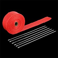 Rollo de cinta de escape de fibra de vidrio con 6 lazos Kit Manifolds Headers Supplies