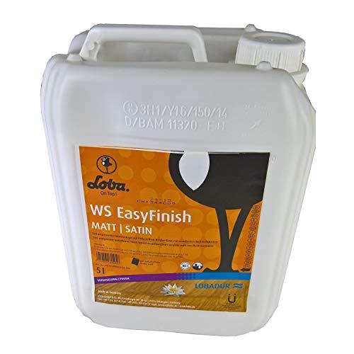 LOBADUR WS EasyFinish, Kork und Parkettlack auf wasserbasis, für starke Beanspruchung (5 Liter, Matt)