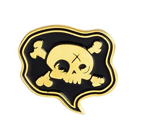 Broschen für Frauen Kleidung Dekoration Schmuck Vintage Pirate Flag Broschen Button Abzeichen Kleidung Zubehör (Piraten Kleidung Zubehör)