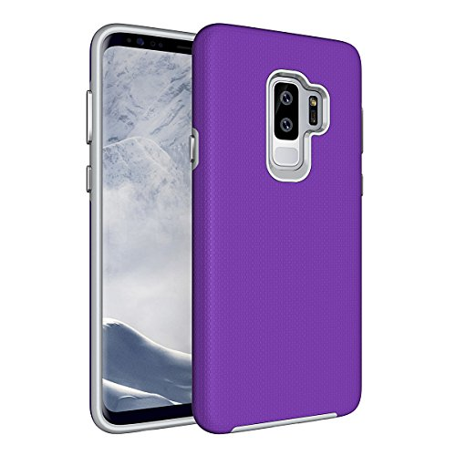 Coque Samsung Galaxy S9 Plus Violet,Coque Samsung Galaxy S9 Plus [avec un Stylo Tactile],Slynmax Luxe Mode Housse TPU Slim Bumper Souple Silicone Etui Housse de Protection Flexible Soft Case Cas Couverture Anti Choc Ultra Mince Légère Coque pour Samsung Galaxy S9 Plus
