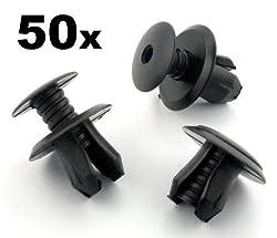 Clips und Klammern FCP-0148x0050 Rand Trimm Klipse Schwarz 50 Stücke